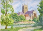 Worcester Cathedral  -  Watercolourl