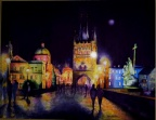 Charles Bridge, Prague. Watercolour