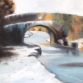 Winter Scene  Oil