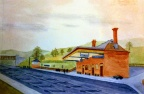 Wombourne Station 1929 - Watercolour