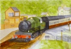 Arley Station  -  Watercolour