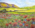 Poppies Across the Fields  -  Acrylic