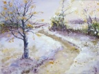 Path in the Snow  -  Watercolour